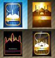 attractive set of brochure of ramadan festival vector image vector image