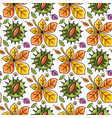 autumn seamless pattern with leaves and chestnut vector image vector image