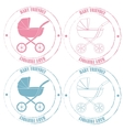 Baby friendly stamps vector image vector image