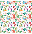 beautiful bird floral colorful pattern background vector image