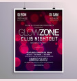 beautiful event flyer design with bokeh background vector image vector image