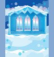 blue house with big wndows on winter vector image