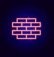 brick wall neon sign vector image