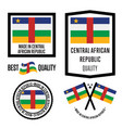 central african republic quality label set vector image