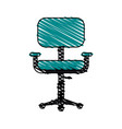 chair office doodle vector image
