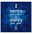 Christmas and New year card vector image