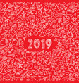 christmas icon holiday background happy new 2019 vector image