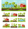 colorful farming concept vector image vector image