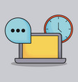 communication related icons vector image
