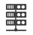 computer server icon vector image