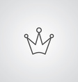 crown outline symbol dark on white background logo vector image vector image
