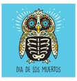 Dia De Los Muertos Greeting card with sugar skull vector image vector image