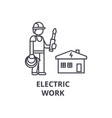 electric work line icon sign vector image