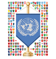 Flagstaff with flags vector image vector image