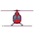 front view of small helicopter vector image vector image