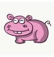 Fun hippo design cartoon vector image