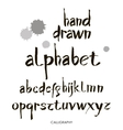 Hand drawn alphabet in retro style ABC for your vector image vector image