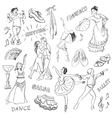 Hand drawn Dance collection vector image