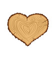 Heart wood i love tree like firewood vector image