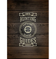 Hunting badges logos and labels for any use vector image vector image