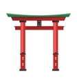 japanese gate icon isolated on white background vector image