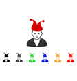 joker icon vector image