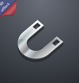 magnet horseshoe icon symbol 3D style Trendy vector image