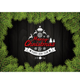 Merry Christmas and happy new year badge vector image