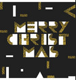 Merry Christmas Postcard Golden Gold Geometric vector image vector image