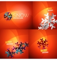 Modern Abstract Christmas Card set vector image