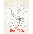 NY Rabbit vector image vector image