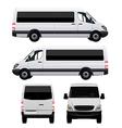 Passenger Van - Minibus vector image vector image