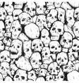 pattern of human skulls vector image vector image