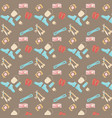 pattern seamless set equipment lifewild pastel vector image vector image