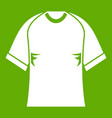raglan tshirt icon green vector image