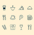 restaurant icons set with eating house beer vector image