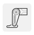 robot leg icon vector image