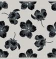seamless pattern with hand drawn stylized sakura vector image