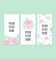 Set of greeting card templates