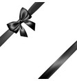 set of realistic black bow with black ribbon vector image vector image