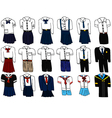 Set of thai student uniform vector image vector image