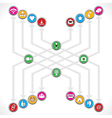 Social Network icons mage a group vector image vector image