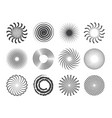 spiral design circles swirls and stylized vector image vector image