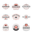 sushi shop logos templates set object and vector image vector image