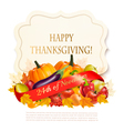 thanksgiving background with autumn fruit vector image