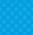 tree house pattern seamless blue vector image