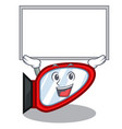 up board side mirror isolated with the character vector image vector image