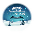 vintage christmas landscape snowball vector image vector image