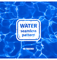Water seamless pattern background vector image