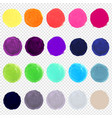 watercolor blots big set vector image vector image